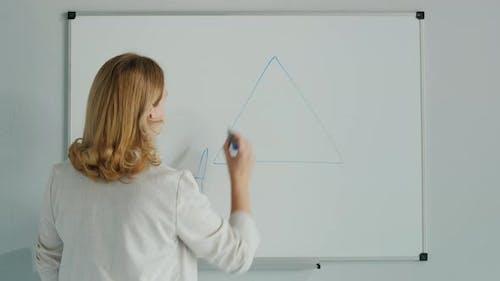 Teacher Solves Geometry Problem on Board