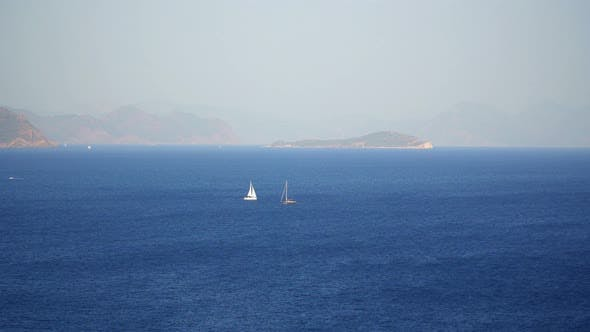 Yachts Sailing The Mediterranean Sea