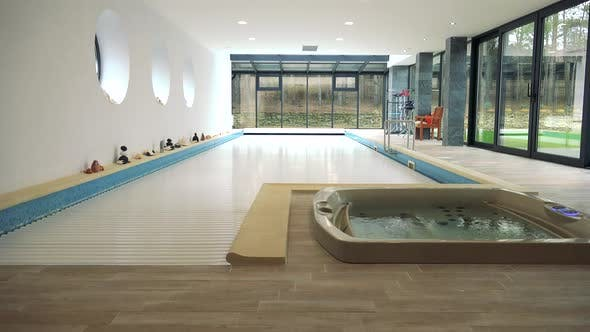 Thumbnail for A Covered Indoor Swimming Pool and a in a Luxurious House