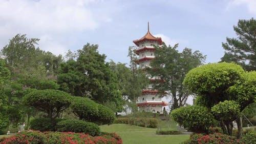 Pagoda in Singapore Park