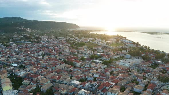 Thumbnail for City of Lefkada Island at Sunset, Greece