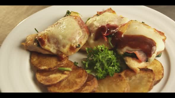 Thumbnail for Restaurant food prep for fine dining meal, Shot on RED