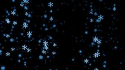 Loopable snowfall at night