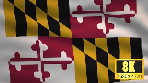 8K Maryland State Flag Background