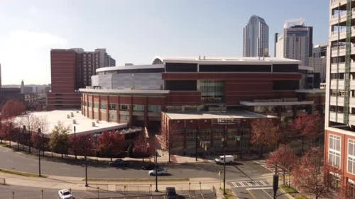 Aerial Video Carolina Panthers Stadium Charlotte Nc Usa