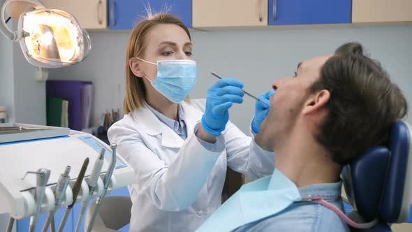 Thumbnail for Portrait of Female Dentist Examining Patient