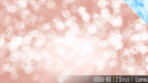 Soft Bokeh Particles Glitter Falling Background