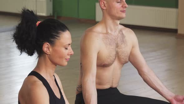 Thumbnail for Couple Meditating Together in Lotus Position
