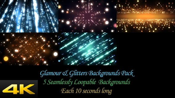 Glamour And Glitters Backgrounds Pack