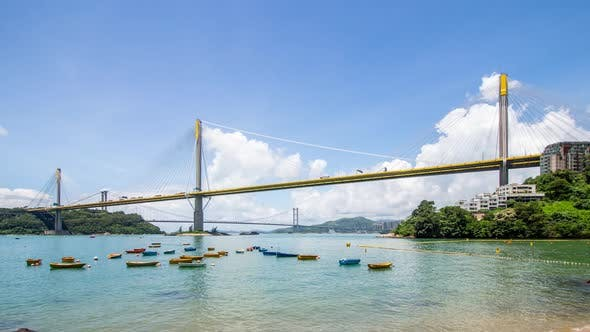 Thumbnail for Ting Kau bridge in Hong Kong