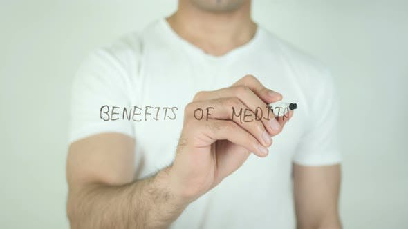 Thumbnail for Benefits of Meditation, Writing On Transparent Screen