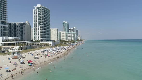 Thumbnail for Aerial view of Hollywood, FL