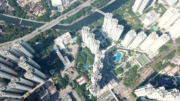 Thumbnail for Aerial view of Hong Kong urban city