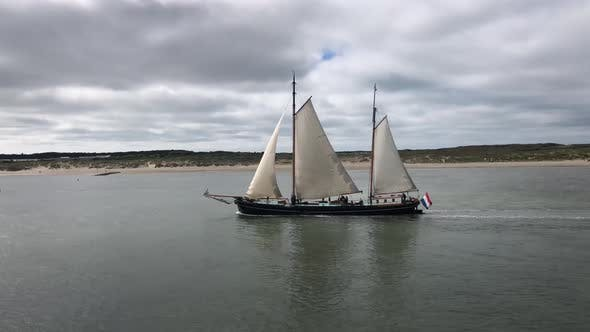 Thumbnail for Sailboat passing by Vlieland island