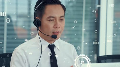 Customer Support Call Center Provide Data with Envisional Graphic