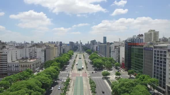 Thumbnail for Aerial Drone Scene of Obelisk of Buenos Aires