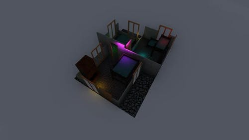 Isometric placement of the bedroom