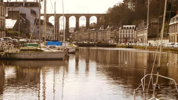 Viaduct And Yachts At Morlaix