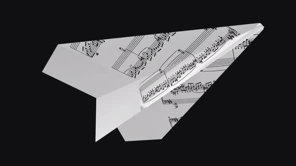 Paper Plane - Music Notes - Flying Loop - Down Angle II