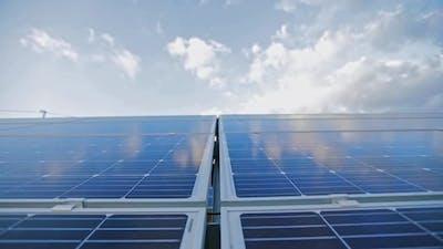 Solar energy panel photovoltaic cell. Solar energy system with photovoltaic solar cell panels