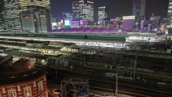 Thumbnail for Tokyo Railway Station Rail Lines Trains Motion