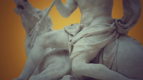 Close Up of the Neptune Statue