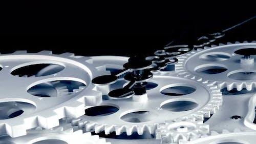 Abstract Retro Clock Gears 6