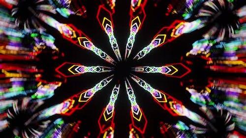 Saures Kaleidoskop Vj Loop 4K
