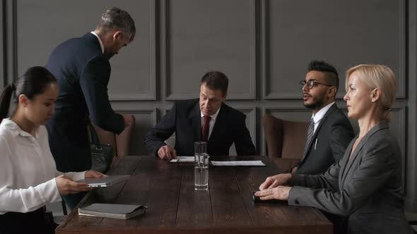 Cover Image for Company Directors Meeting in Private Room away from Office
