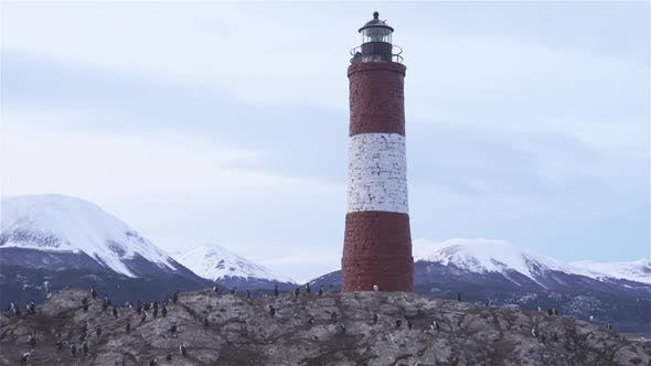 Thumbnail for Lighthouse Les eclaireurs in Beagle Channel near Ushuaia.