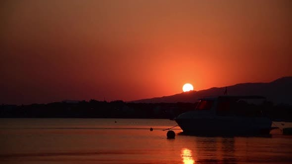 Thumbnail for Red Sunset at the Marine