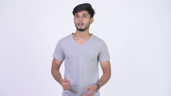 Thumbnail for Young Stressed Bearded Indian Man Looking Upset