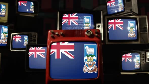 Thumbnail for Flag of the Falkland Islands and Retro TVs.