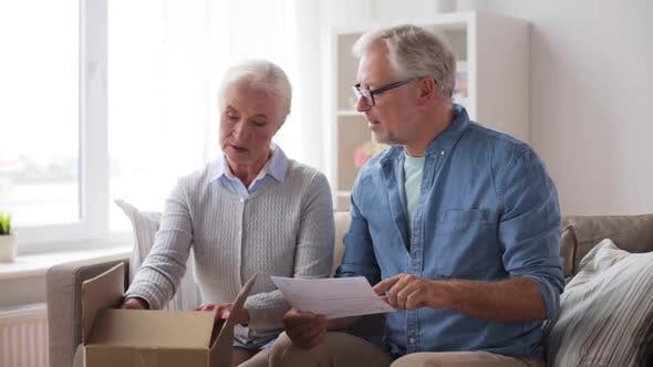 Thumbnail for Senior Couple with Parcel and Delivery Note 92