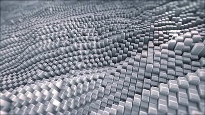 Abstract Field Of Gray Cubes