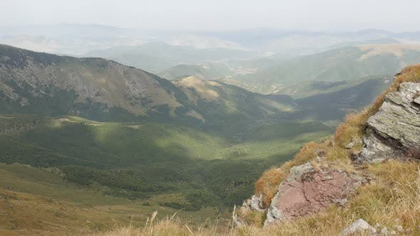 Thumbnail for Clouds passing over Midzor peak valley 4K 2160p 30fps UltraHD footage - Bulgarian side of Stara plan