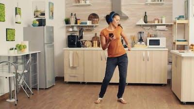 Energetic Dancing in Kitchen