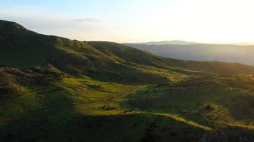 Aerial Sunrise  Plateau