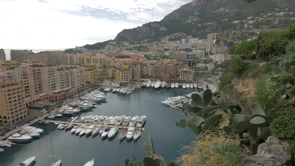 Thumbnail for High angle of the Port Fontvieille in Monaco