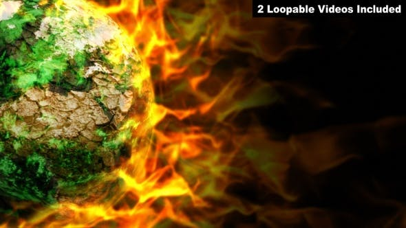 Thumbnail for Burning Earth - Global Warming Concept