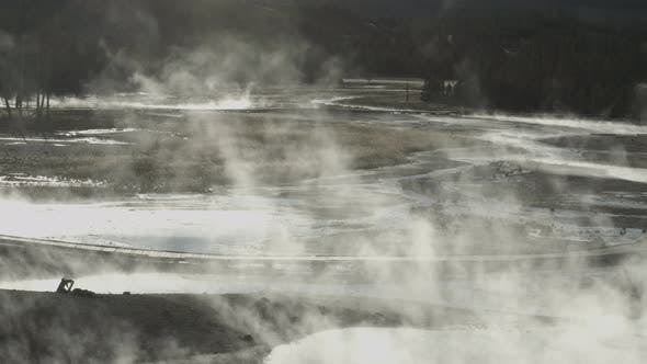 Thumbnail for Steam in Yellowstone National Park