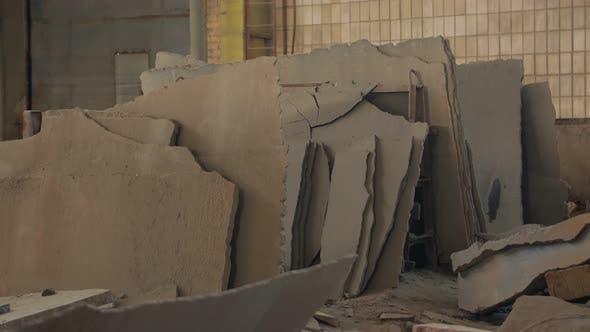Broken Concrete Indoors