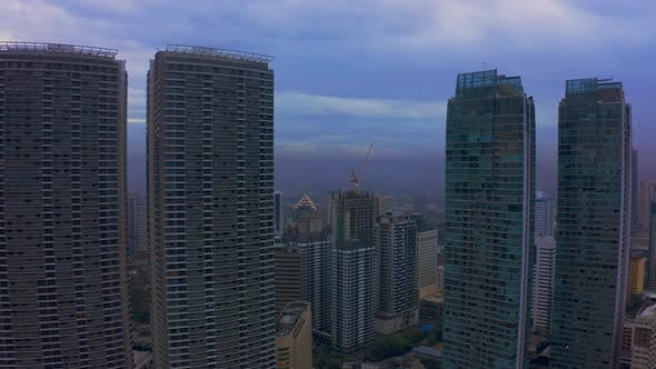 Thumbnail for Makati City Skyline and Modern Buildings Business District of Metro Manila, Philippines