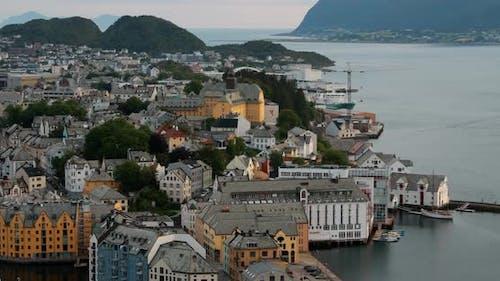 Alesund Norway Alesund Skyline Cityscape