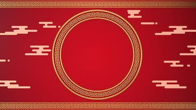 Chinese style red background, festival decoration.