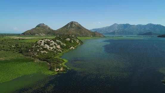 Thumbnail for Aerial View of the Landscape of Lake Skadar in Montenegro