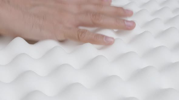 Elasticity of memory foam peak and valley mattress 4K 2160p 30fps  UltraHD  video - Orthopedic exagg