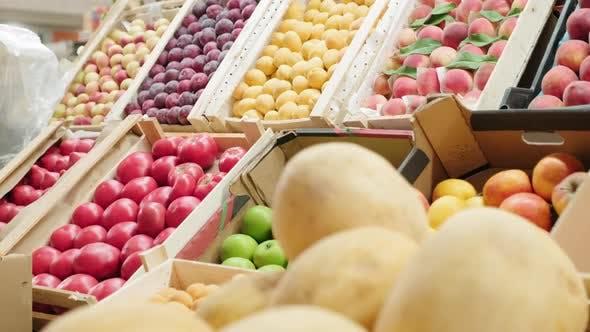 Thumbnail for Fresh Produce on Shelf in Supermarket