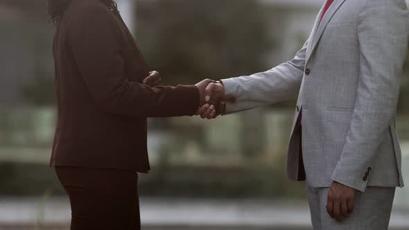 Thumbnail for Cropped Shot of Business Handshake
