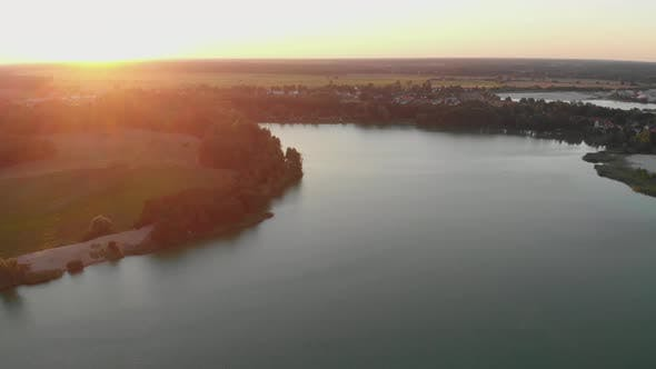 Thumbnail for Majestic View of Lake and Fields During Golden Hour